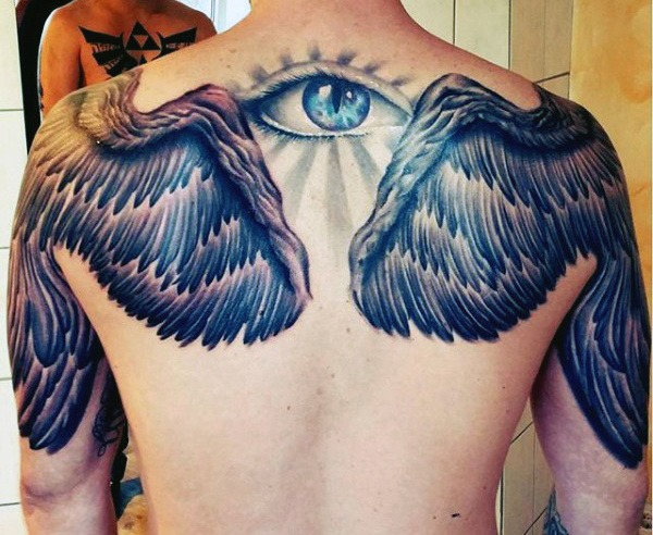 eye best wings tattoo designs men
