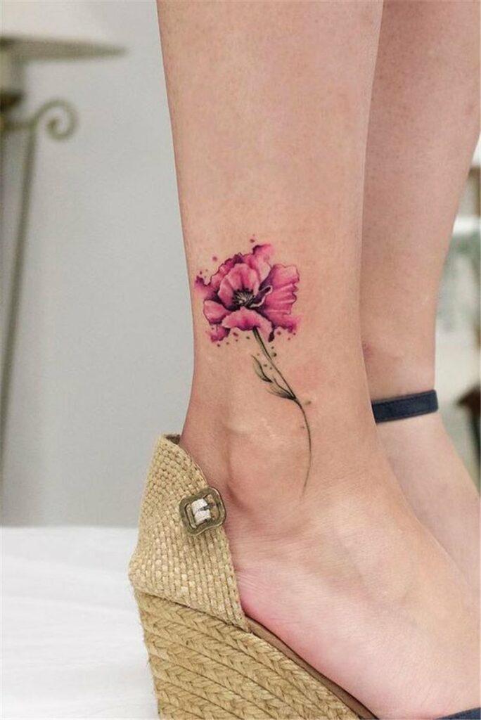 easy flower tattoos