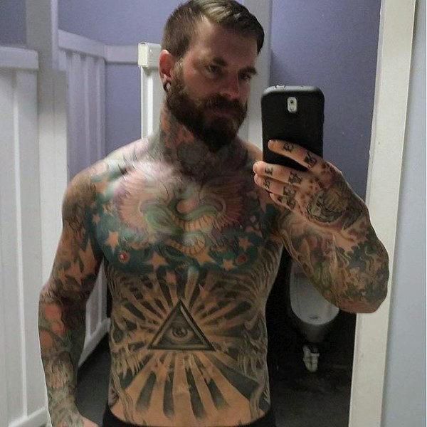 fake stomach tattoos