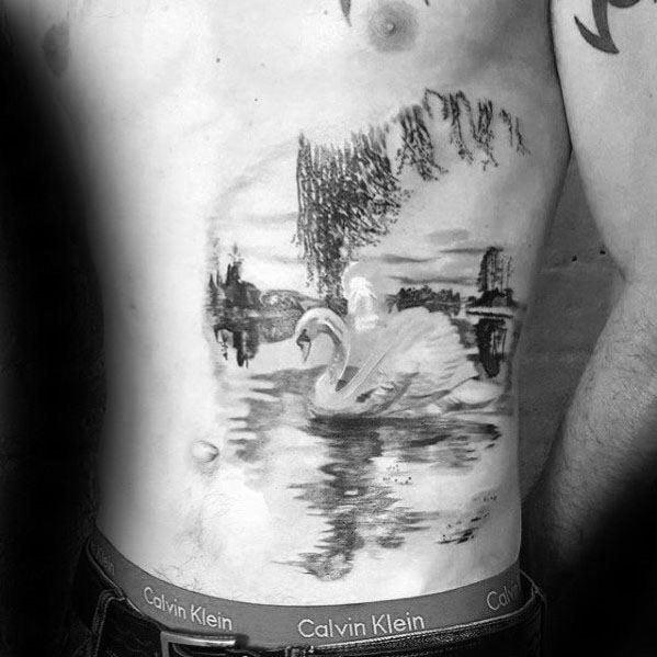 Swan tattoo is a popular form of body art