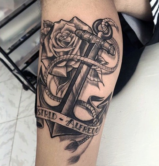 foot best anchor tattoos design images