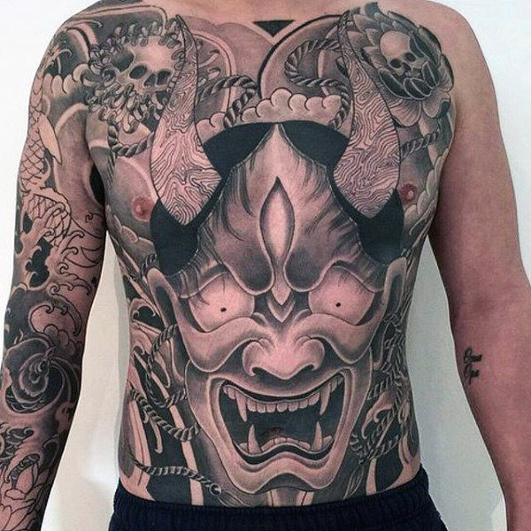 dragon tattoo stomach for men