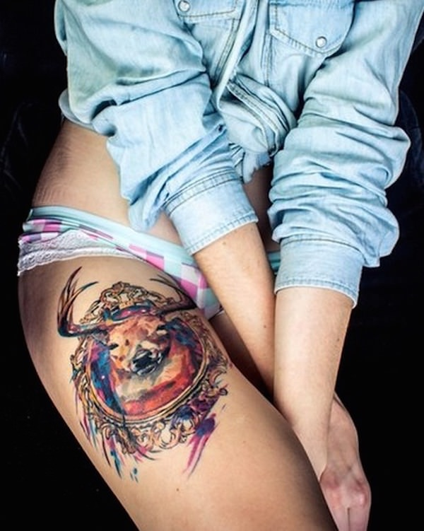 Thigh tattoo designs are all over the place