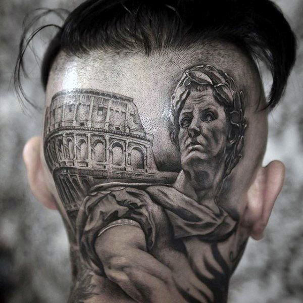 head and face tattoos