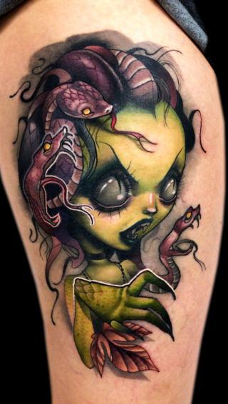 shoulder medusa tattoo drawings design