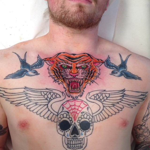 tiger guardian angel symbol tattoo designs