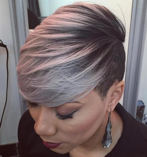 Create short quick weave black hairstyles