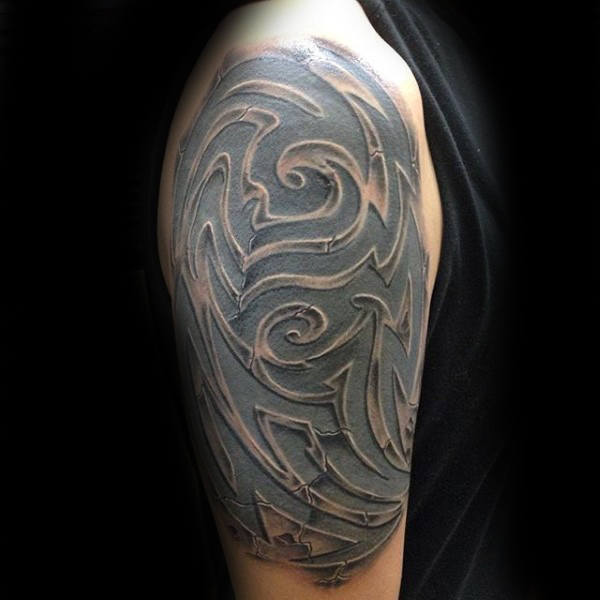 A stone tattoo  for men statuesque