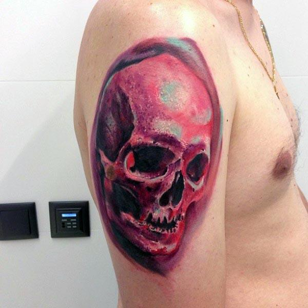 skull men's tattoo design arm ideas design