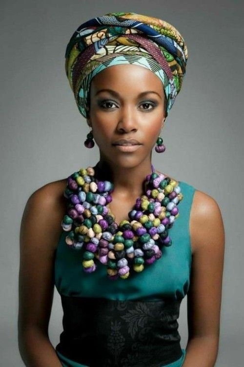 african dress with head wrap