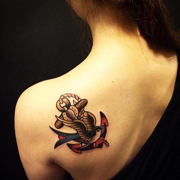 girls back meaningful tattoo