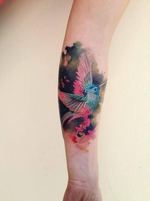forearm bird tattoos for ladies