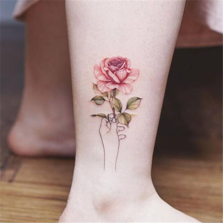 small wildflower tattoo