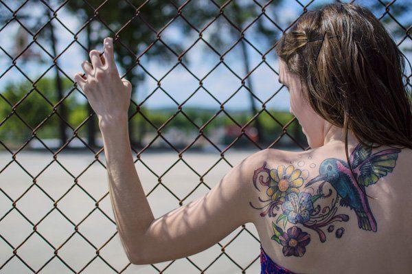 back shoulder  Flying Bird  Tattoos design