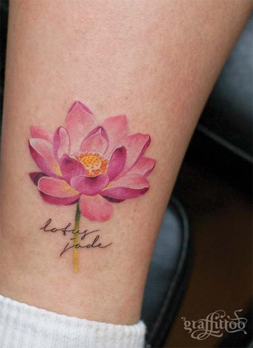 flower temporary tattoos on leg