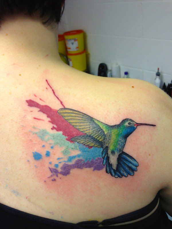 back  Flying Bird  Tattoos design