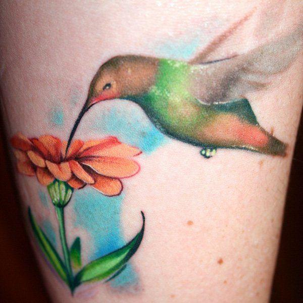 bird flower tattoos designs images