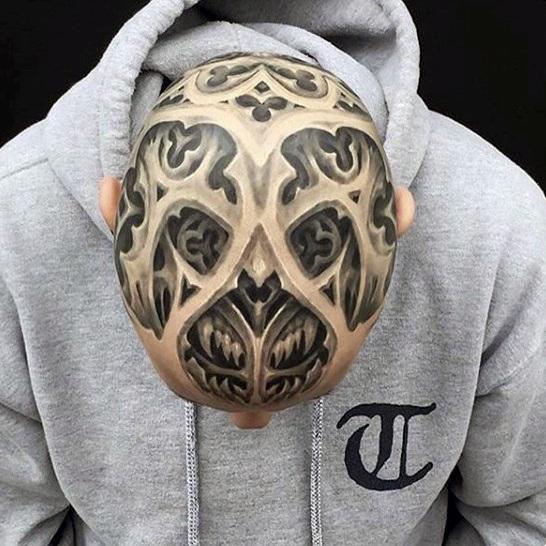 best bald head tattoos ideas for men
