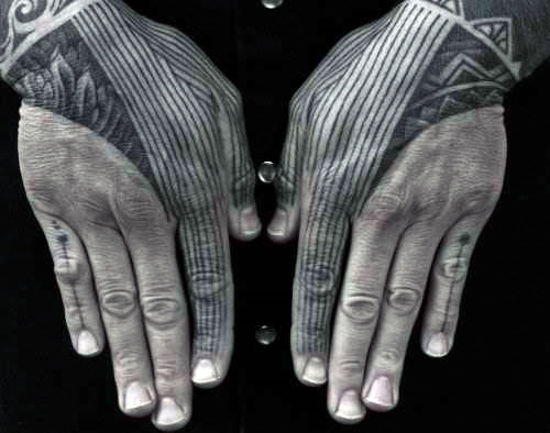 hand finger tattoo ideas men