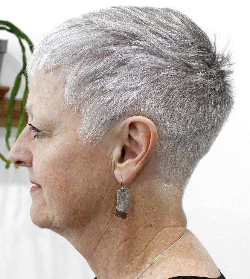 modern short grey hairstyles for women