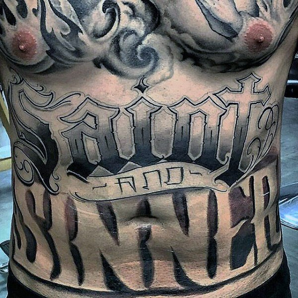 Stomach Tattoos have been popular with both men