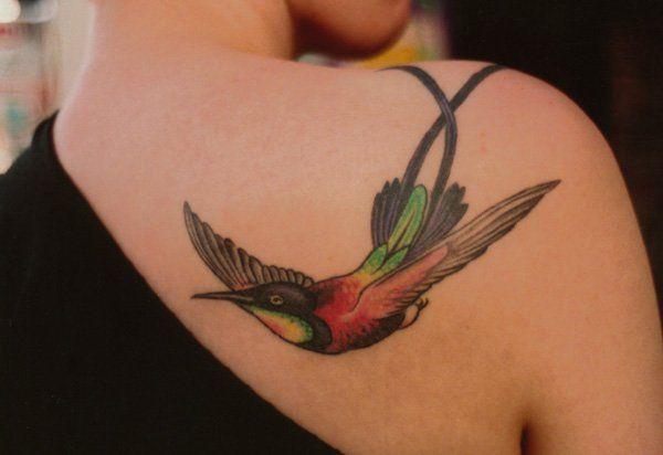 bird images on body art