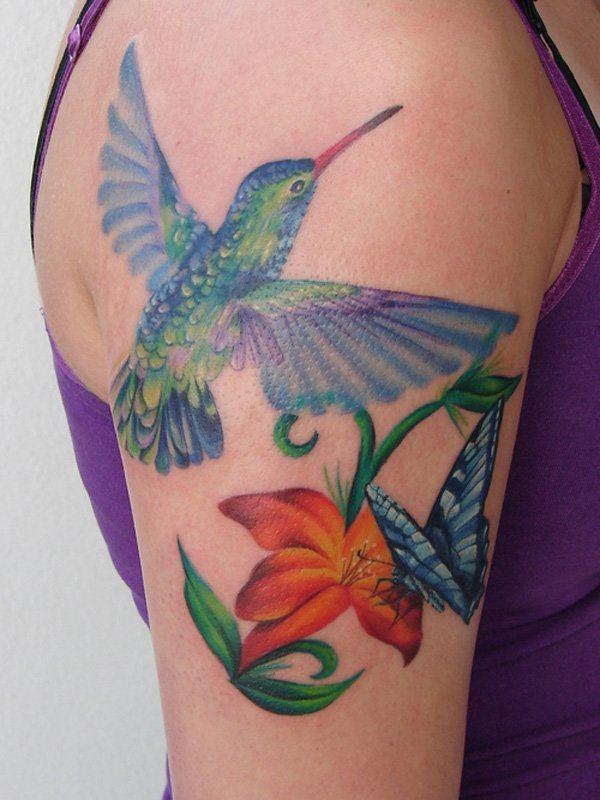bird realistic tattoo art