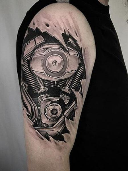 mechanical best arm tattoos for guys