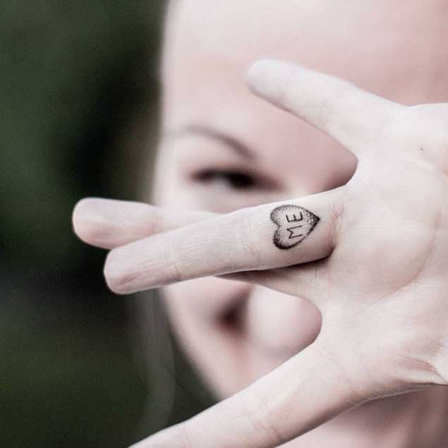 cute finger tattoos for girls images