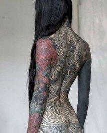 women whole body dragon tattoo