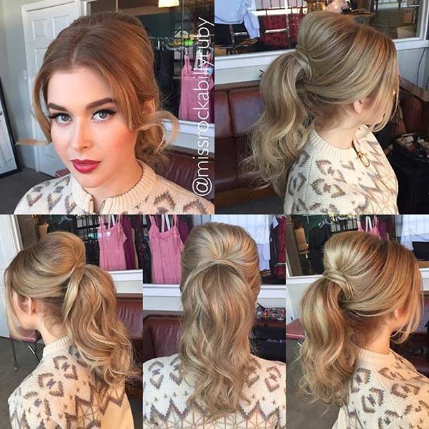 ponytails hairstyles with weave