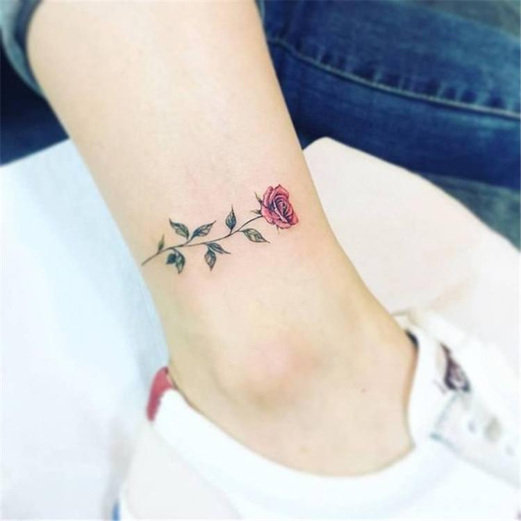 flower tattoos for women on ankle design