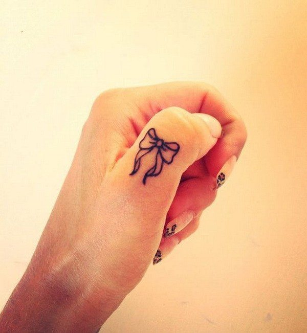 temporary small finger tattoos for girls
