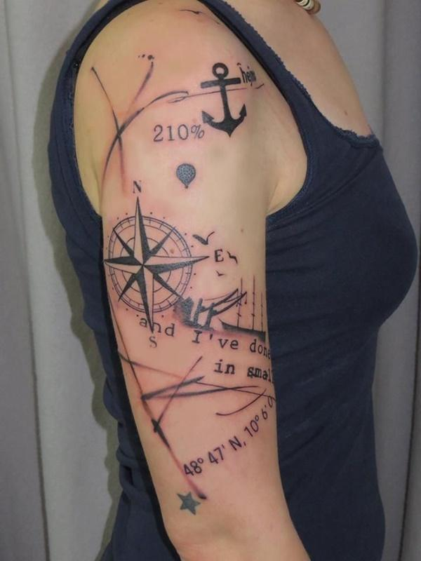 shoulder tiny anchor tattoos for ladies