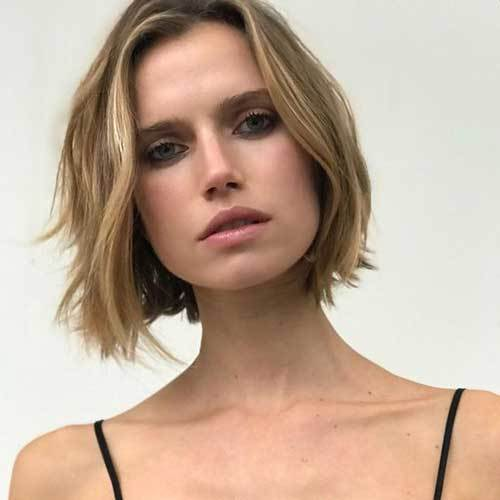 bob cut for round face