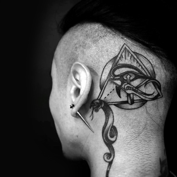 mens side head tattoos design images