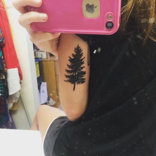 girls arm geometric tree of life tattoo images