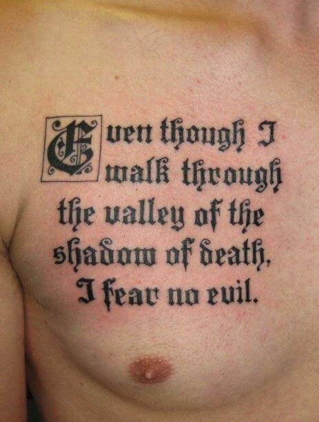 temporary chest best quotes for men's tattoos