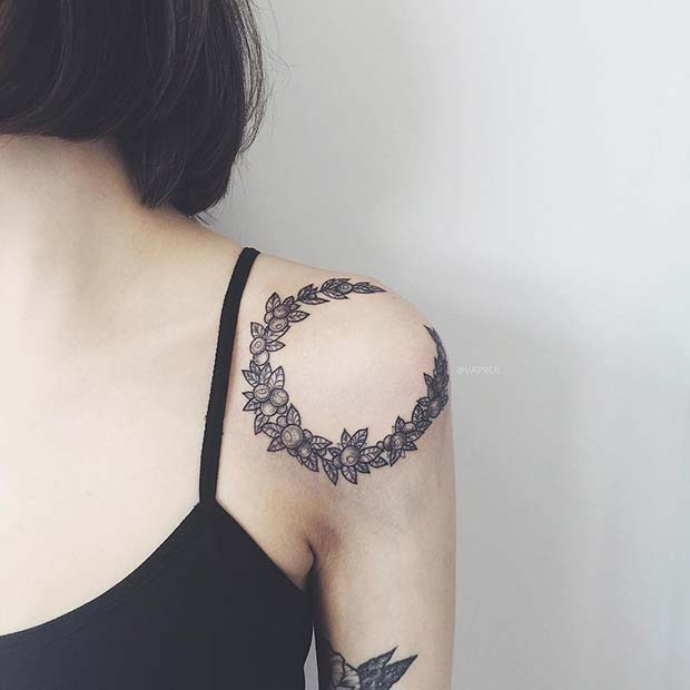 shoulder cover up tattoos for ladies