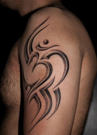 mandala lotus om tattoo for men