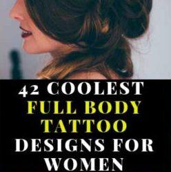 42 Coolest Full Body Tattoo Designs for Women ladies
