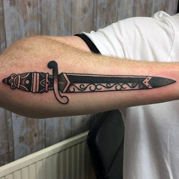 dagger tattoo knife