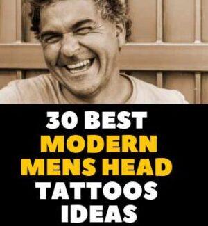 MODERN HEAD TATTOO DESIGN