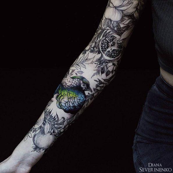 girl arm sleeve tattoo ideas