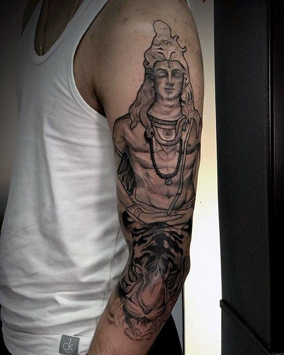 best trishul tattoo for men