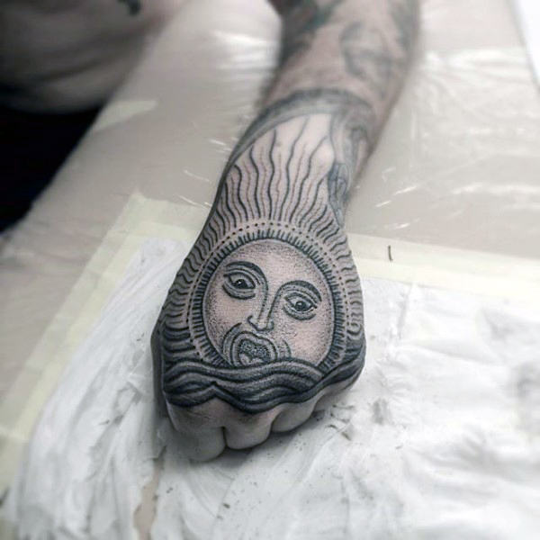 hand the rising sun tattoo ideas images
