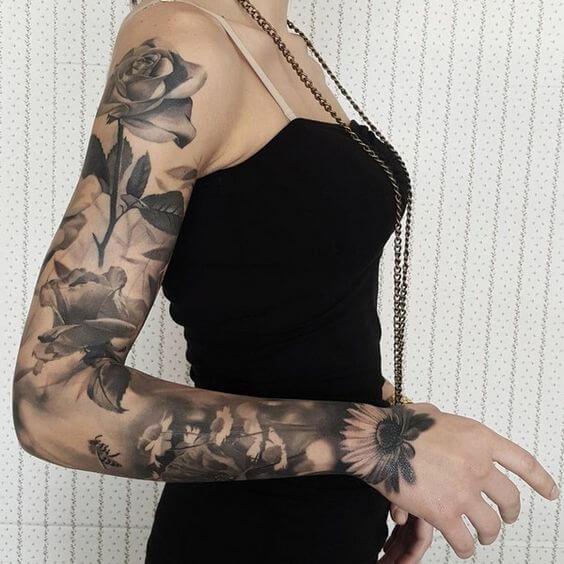 unique sleeve tattoos for females ideas