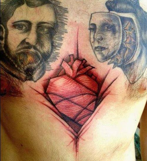 heart tattoo men images