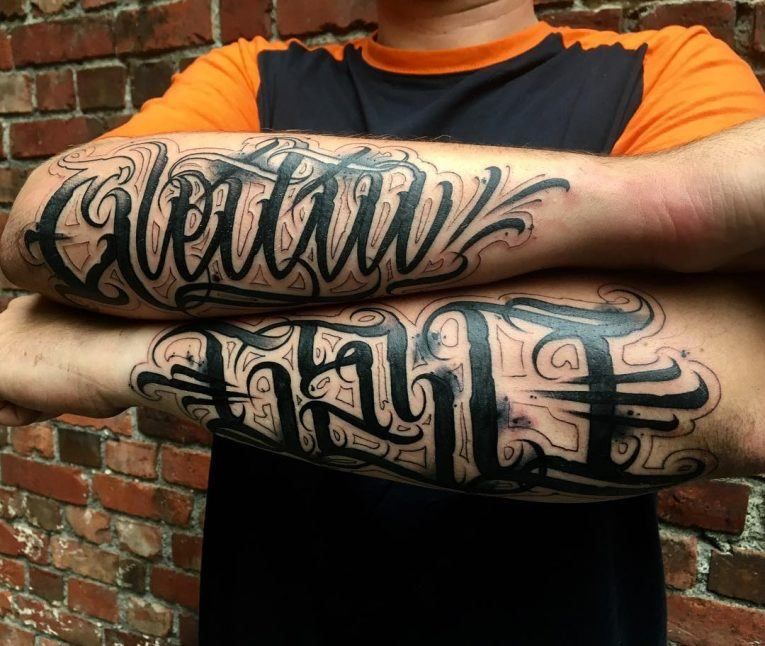 initial tattoos for men on arms ideas images