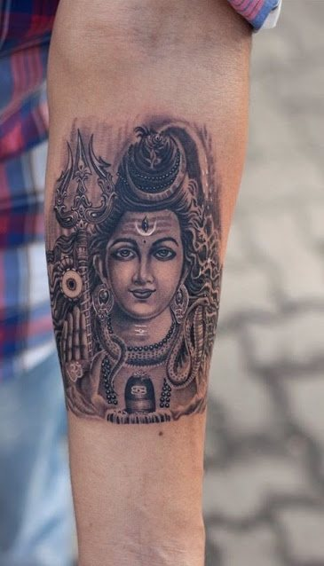 lord shiva temporary tattoo design ideas